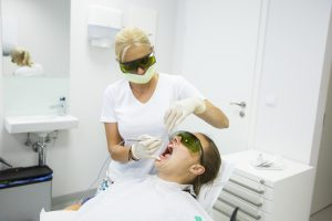 Dental hygienists office, diode laser